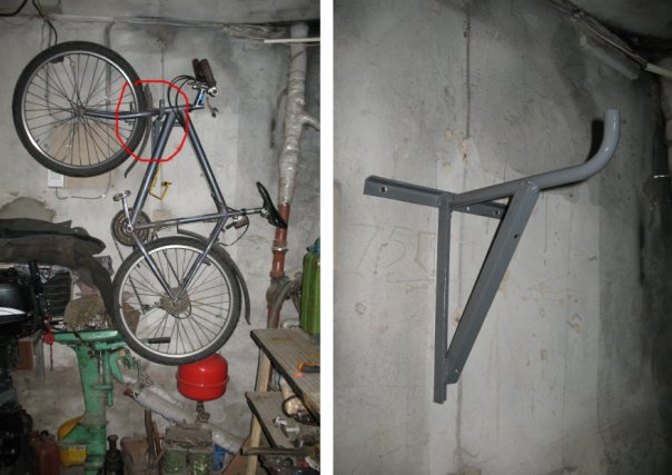 Крепеж на стену для велосипеда своими руками